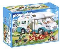 PLAYMOBIL Family Fun 70088 Mobilhome met familie-Linkerzijde
