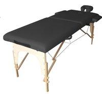 Massagetafel zwart