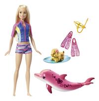 Barbie speelset Magische dolfijn Snorkelplezier vrienden