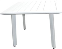 Table de jardin Nice blanc 100 x 100 cm