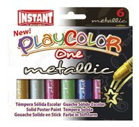Instant gouache en stick Playcolor One Metallic - 6 pièces