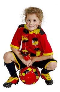 Tenue de football Belgique rouge taille 128-Image 3