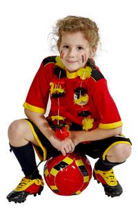 Voetbaloutfit België rood maat 128-Afbeelding 3