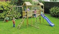 BnB Wood complete schommelset Tildonk met blauwe glijbaan