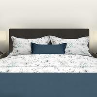 Satin d'Or Drap de lit Irena vert/blanc satin de coton 180 x 290 cm-Image 1