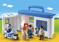PLAYMOBIL 1.2.3 9382 Commissariat de police transportable-Image 1