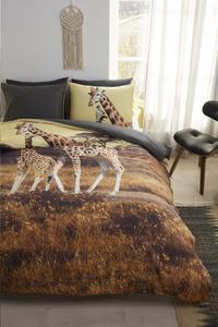 Beddinghouse Housse de couette Masai giraffe ocre coton 240 x 220 cm-Image 1
