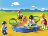 PLAYMOBIL 1.2.3 9379 Enfants et manège-Image 1