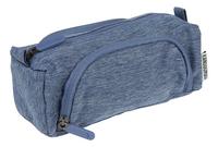 Kangourou pennenzak 3 vakken blauw-Linkerzijde