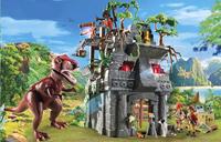 PLAYMOBIL 9429 Campement des Explorers avec tyrannosaure-Image 1