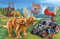 PLAYMOBIL The Explorers 9434 Bandit avec tricératops-Image 1