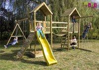 BnB Wood portique Nieuwpoort Duo Adventure avec toboggan jaune-Image 2