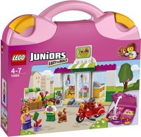 LEGO Juniors 10684 Supermarkt koffer-Linkerzijde