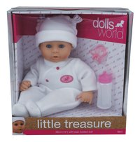 Dolls World zachte pop Little Treasure wit-Vooraanzicht