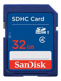 SanDisk SDHC-geheugenkaart Ultra Class 4 32 GB blauw
