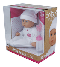 Dolls World zachte pop Little Treasure wit-Rechterzijde