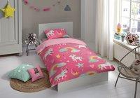 Good Morning Housse de couette Unicorn flanelle Lg 140 x L 220 cm-Image 1