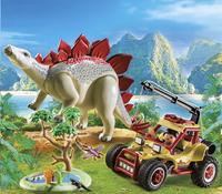 PLAYMOBIL The Explorers 9432 Explorersbuggy met stegosaurus-Afbeelding 1