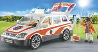 PLAYMOBIL City Life 70050 Voiture et ambulanciers-Image 1