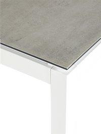 Ocean table de jardin Jura blanc L 150 x Lg 100 cm-Détail de l'article