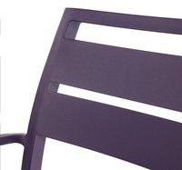 Chaise de jardin Nice mauve-Détail de l'article