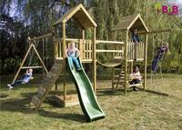 BnB Wood portique Nieuwpoort Duo Adventure avec toboggan vert-Image 2