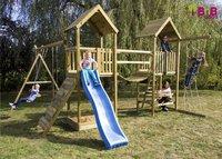 BnB Wood portique Nieuwpoort Duo Adventure avec toboggan bleu-Image 2