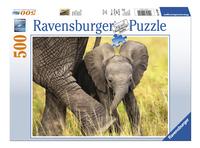 Ravensburger puzzel Olifantenjong-Vooraanzicht