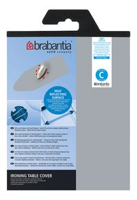 Brabantia housse de rechange Metallic C 124 x 45 cm argenté