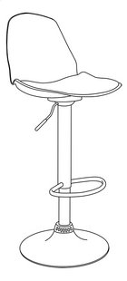 Demeyere Meubles Tabouret de bar Costa blanc-product 3d drawing