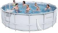 Bestway piscine Steel Pro Frame diamètre 4,57 m-Image 1