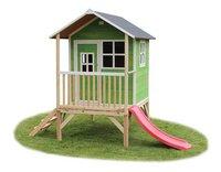 EXIT houten speelhuisje Loft 300 groen-Vooraanzicht