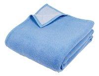 Sole Mio couverture en laine bleu/bleu ciel 180 x 220 cm-Avant