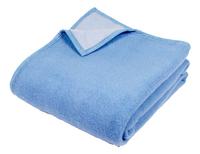 Sole Mio wollen deken blauw/hemelsblauw-Vooraanzicht