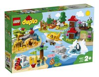LEGO DUPLO 10907 Dieren van de wereld-Linkerzijde