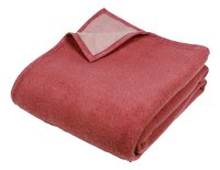 Sole Mio couverture en laine rose/fraise