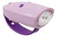 Mini Hornit Nano phare pour vélo avec sonnette rose/mauve-Côté droit