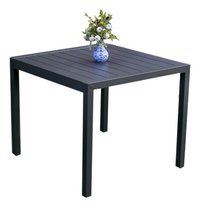Table de jardin Cannes anthracite L 90 x Lg 90 cm-Avant