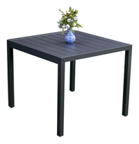Table de jardin Cannes anthracite L 90 x Lg 90 cm