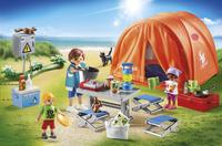 PLAYMOBIL Family Fun 70089 Tente et campeurs-Image 1