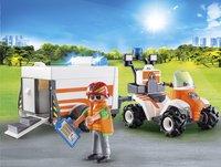 PLAYMOBIL City Life 70053 Eerste hulp quad met trailer-Afbeelding 1