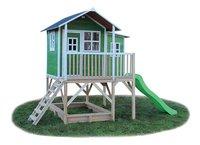 EXIT houten speelhuisje Loft 550 groen-Linkerzijde
