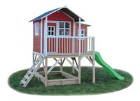 EXIT maisonnette en bois Loft 550 rouge-Côté gauche