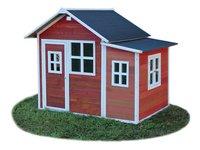 EXIT maisonnette en bois Loft 150 rouge-Côté droit