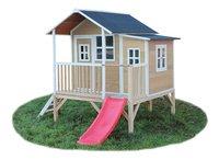 EXIT maisonnette en bois Loft 350 naturel-Côté droit