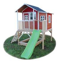 EXIT maisonnette en bois Loft 550 rouge-Côté droit