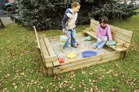 Forest-Style bac à sable Combi avec bancs et couvercle 150 x 150 cm-Image 3