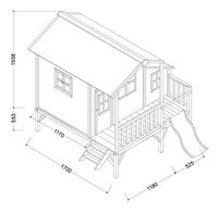 EXIT maisonnette en bois Loft 350 rouge-Détail de l'article