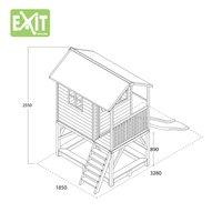 EXIT maisonnette en bois Loft 500 rouge-Détail de l'article