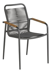Ocean chaise de jardin Amazone Charcoal-Côté gauche